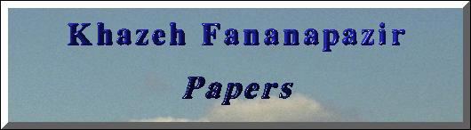 Khazeh Fananapazir: Papers